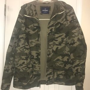 OLD NAVY Men's Camouflage Hooded Jacket